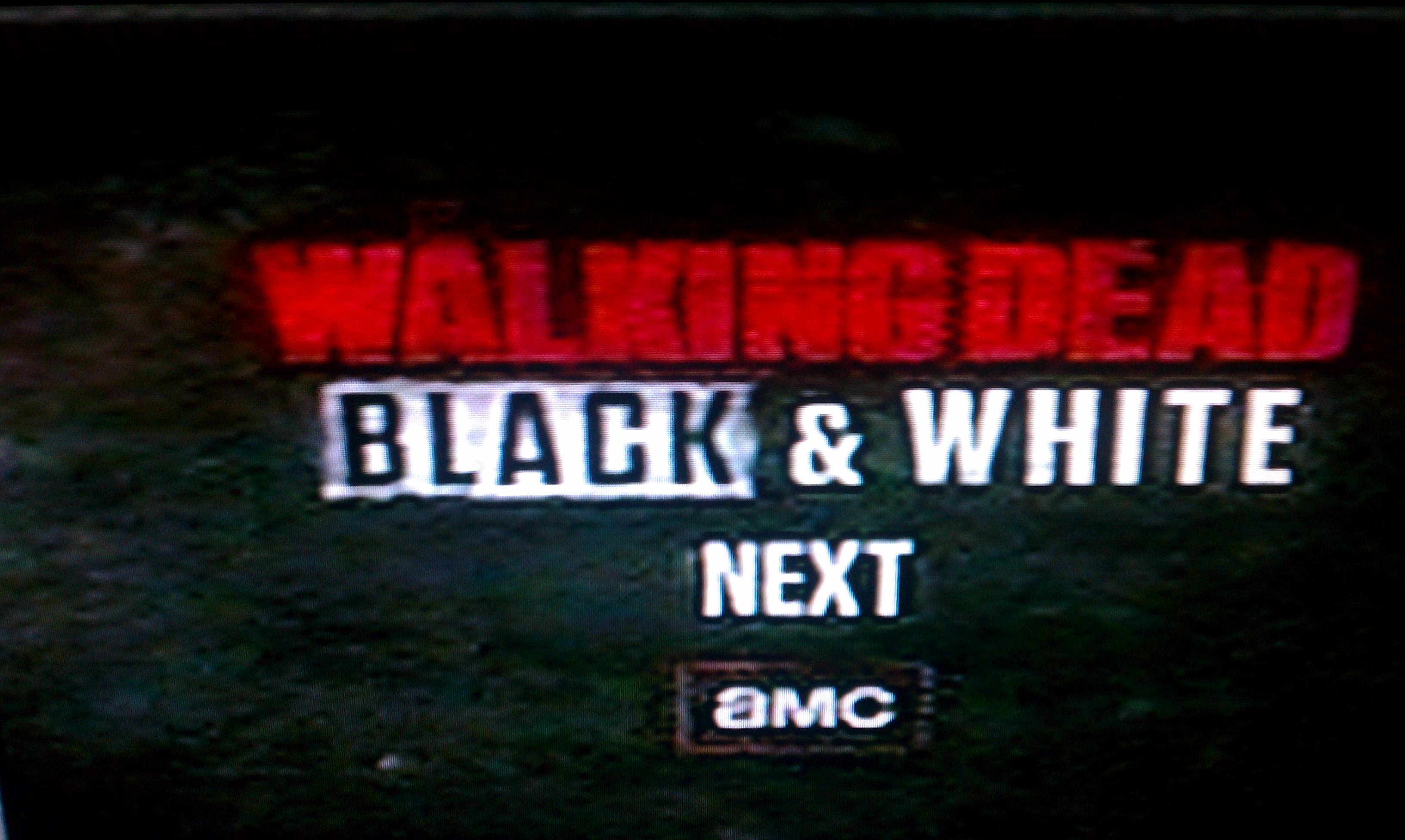 Black & White Walking Dead in My Zombies Blog