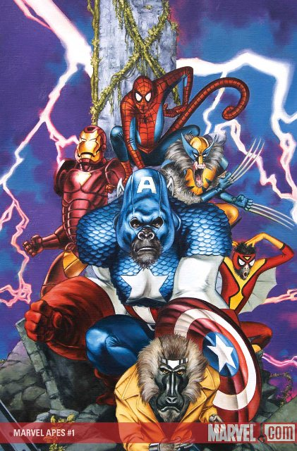 Marvel Apes in My Zombies Blog