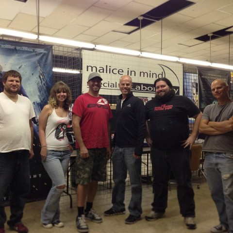 Jason Kittrell participating in Rick Prince's special effects class
