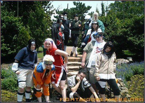 Fighting Dreamers cosplay group (Holly is Sakura).