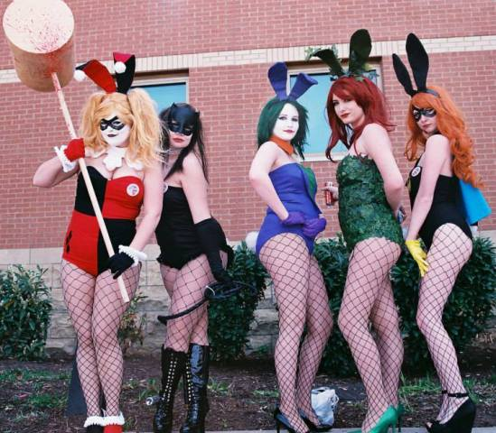 DC Characters as Playboy Bunnies