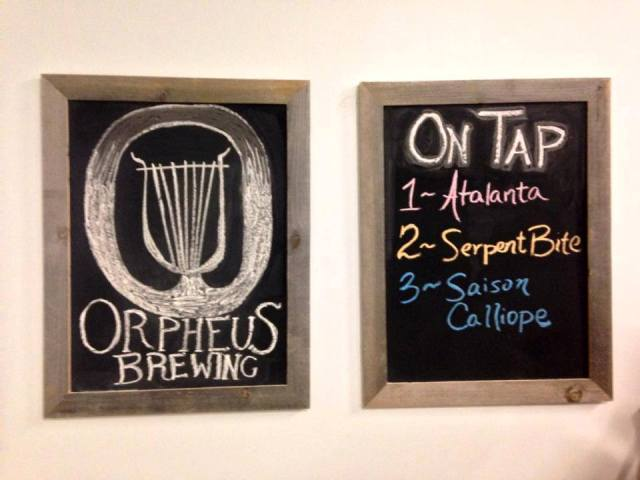 Orpheus Brewing On Tap