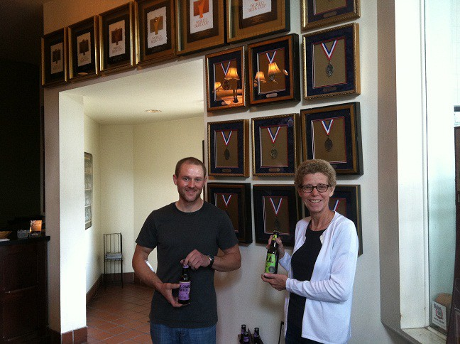 Together, Blackstone Owner Stephanie Weins and Brewmaster Josh Garrett are winning many awards.