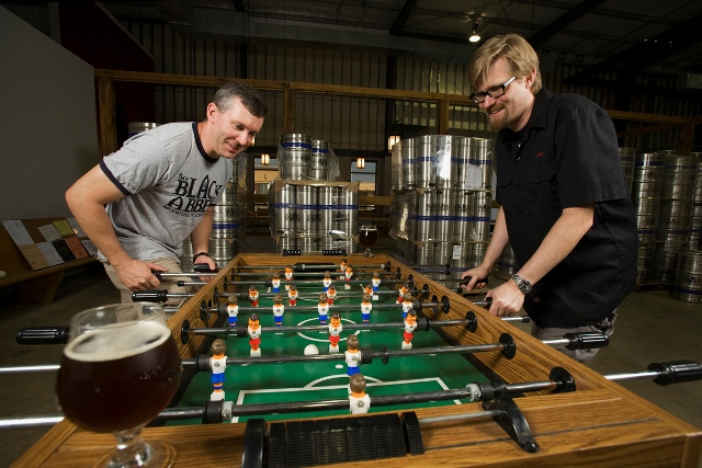 Carl E. Meier (left) and John D. Owen (right) of The Black Abbey Brewing Company.