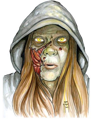 Zombie Portrait by Sam Flegal