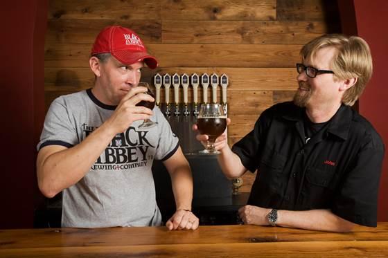Carl E. Meier (left) and John D. Owen (right) of Black Abbey Brewing Company.