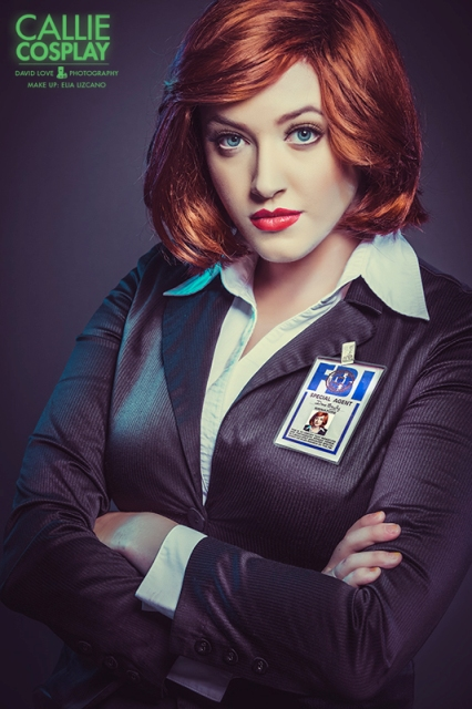 Callie Cosplay Agent Scully