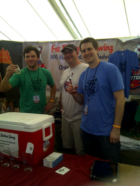 Aric (left), Kendall (middle) & Ben (right) of Fat Bottom Brewing -  Photo courtesy of @KennysFrmHseChz