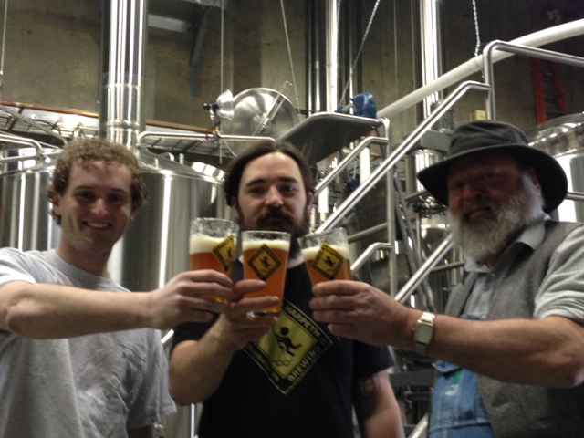 Little Harpeth Brewing's Creative Director Matt Hearn (left), Founder Michael Kwas (middle) and Head Brewer Steve Scoville (right).