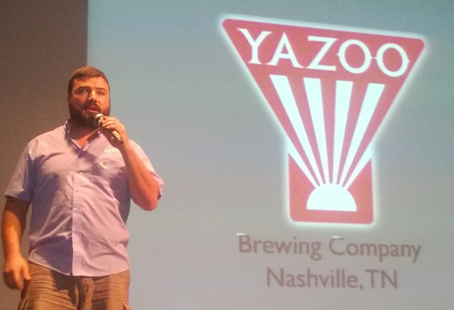 Neil McCormick of Yazoo Brewery presented the Yazoo Fall Lager and the Sly Rye Porter, which is a barrel-aged porter.