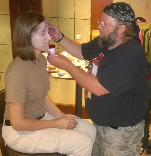 Makeup Artist Rob Fitz creates a Zombie.