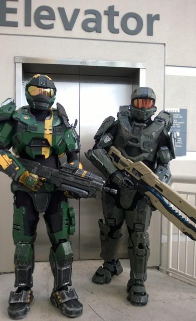 Halo Elevator Spartans