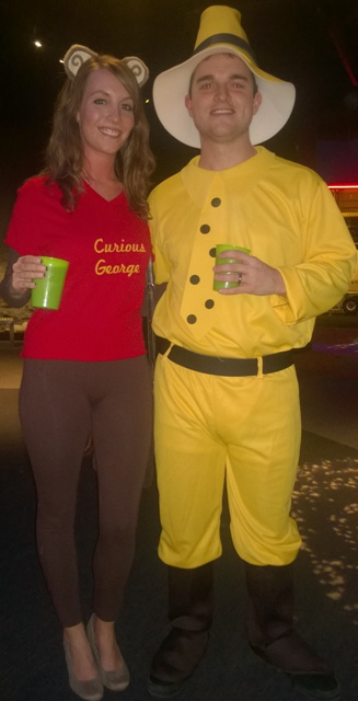 Curious George cosplayers