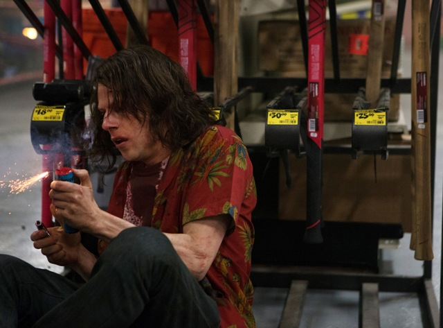 Jesse Eisenberg stars as Mike Howell in AMERICAN ULTRA. Photo Credit: Alan Markfield