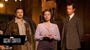 Howard Stark Peggy Carter and Mr Jarvis