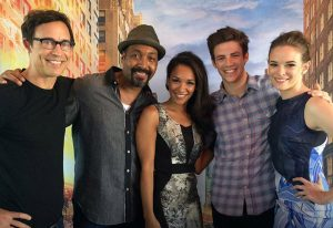 The Flash cast at Paleyfest