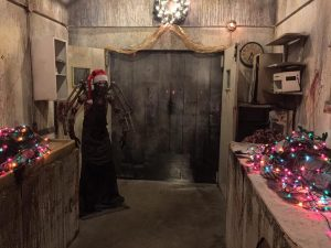 Dr. Satan dressed for Christmas at Nashville Nightmare