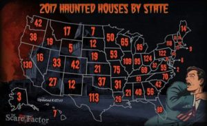 The Scare Factor 2017 Haunt Map