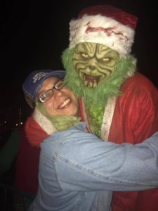 The Grinch loves the ladies at Nashville Nightmare