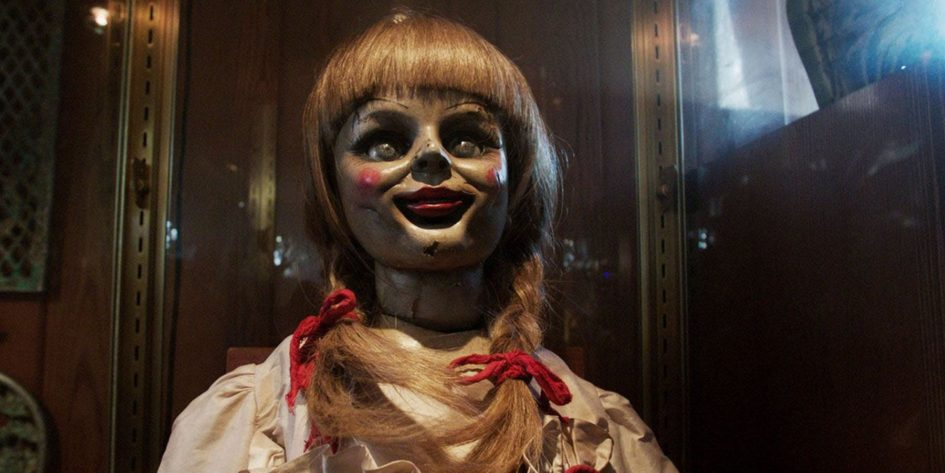 Annabelle doll in glass case