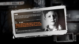 This War of Mine The LIttle Ones screenshot of Ivano