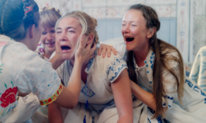 Girls screaming in agony in Midsommar