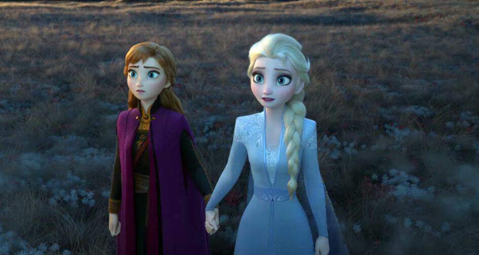 Anna and Elsa preparing for adventure in Disney's Frozen 2 movie