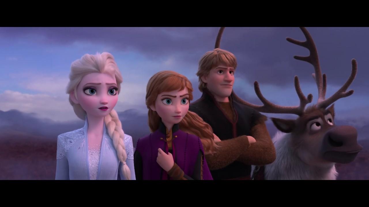 Elsa, Anna, Kristoff and Sven await adventure in Frozen 2