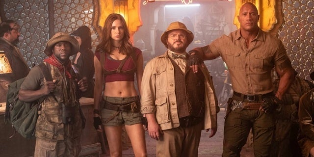 The cast of Jumanji The Next Level