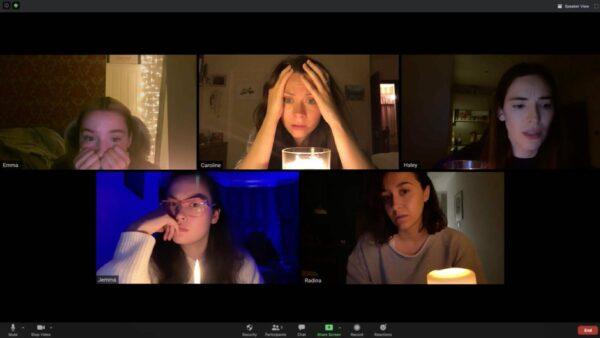 5 women in Zoom meeting