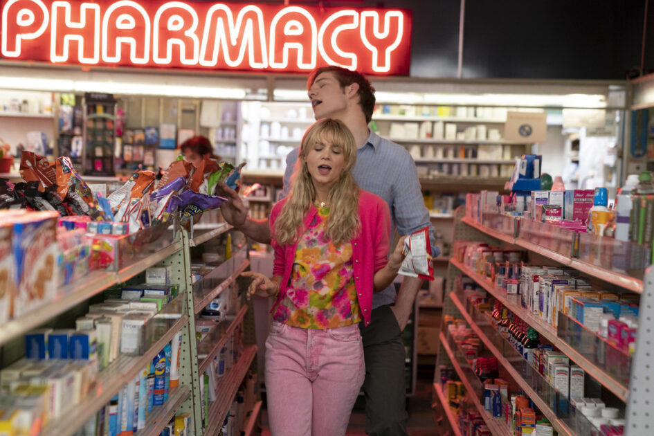 """Carey Mulligan (front) stars as """"Cassie"""" and Bo Burnham (back) stars as """"Ryan"""" in director Emerald Fennell's PROMISING YOUNG WOMAN, a Focus Features release. Credit : Merie Weismiller Wallace / Focus Features"""